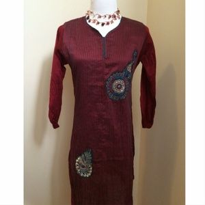Tops - Embroidered Indian Tunic